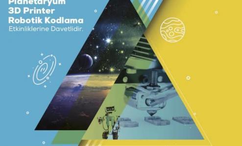 planetaryum, 3D ve Robotik kodlama etkinliklerine davet