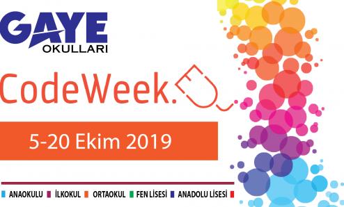 Gaye Okulları Kodlama Haftası (Code week) etkinlikleri
