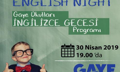 Gaye Okulları İngilizce Gecesi 'ne davetlisiniz
