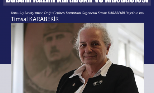 Kazım Karabekir'in kızı Timsal Karabekir okulumuza geliyor