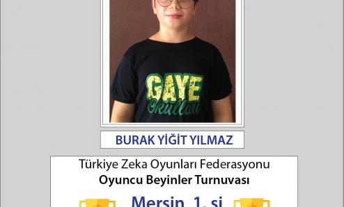 Türkiye Oyuncu Beyinler Turnuvası' nda  Büyük  Başarı