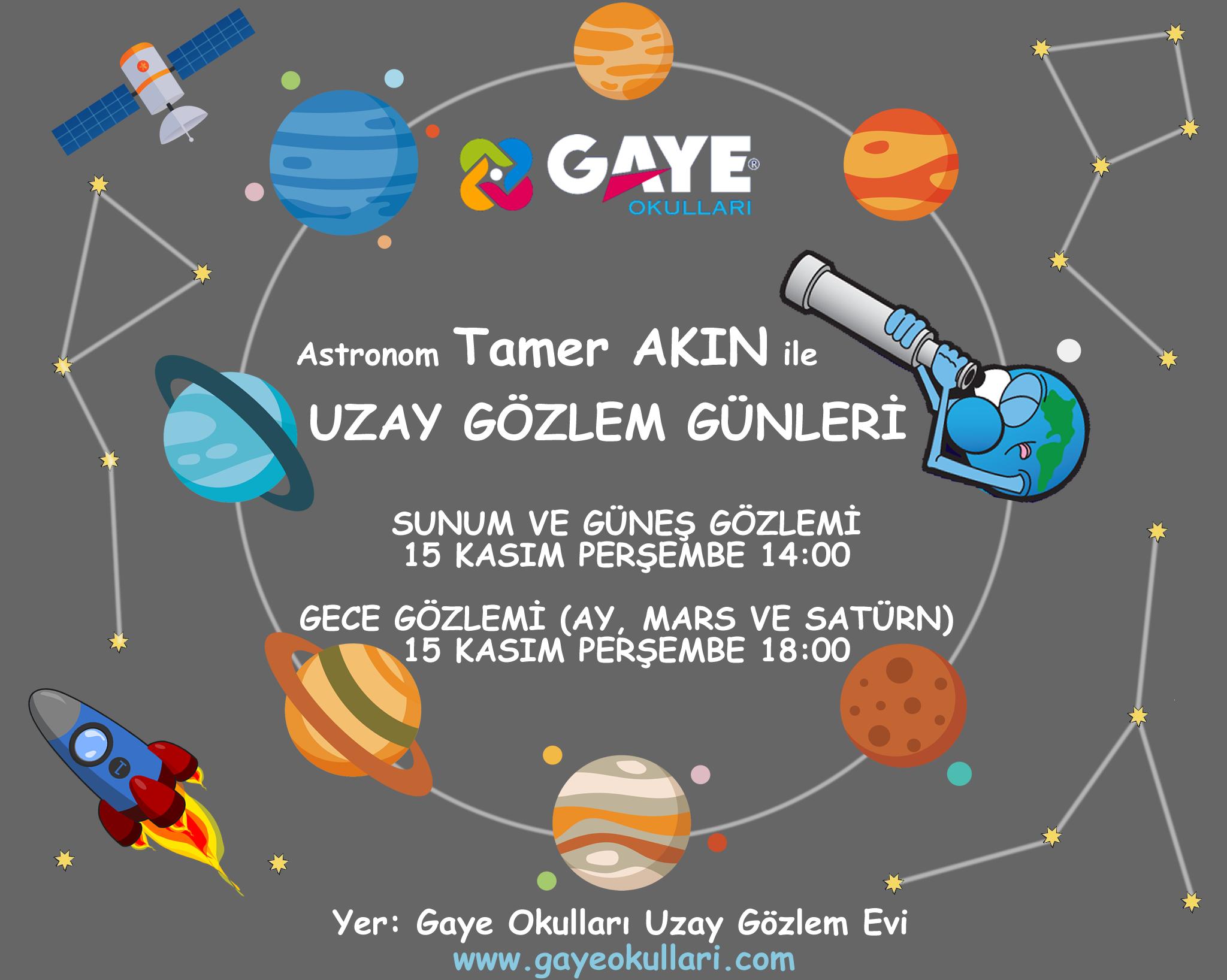 Gaye'de Uzay Gözlem Günleri